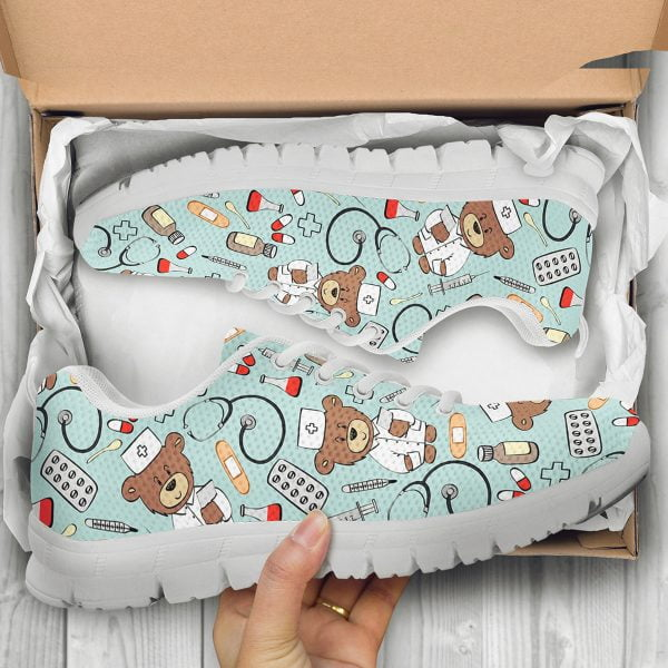 Nurse Shoes – Teddy Bear Nurse Sneakers