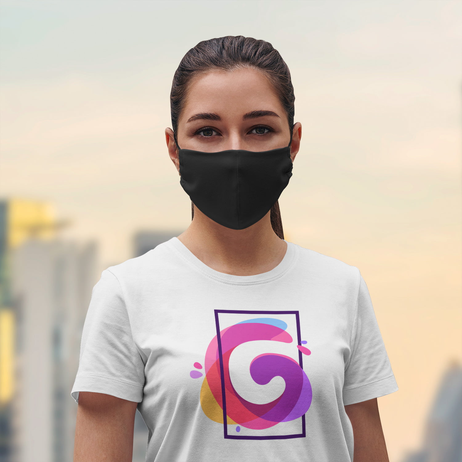 Black Face Mask+ Filters PM2.5