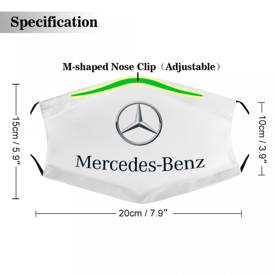Mercedes-Benz Mask – Mercedes-Benz Face Mask + Filters PM2.5