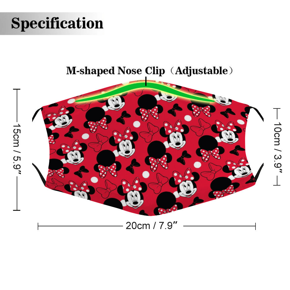 Minnie Mouse Mask – Minnie Face Mask + Filters PM2.5