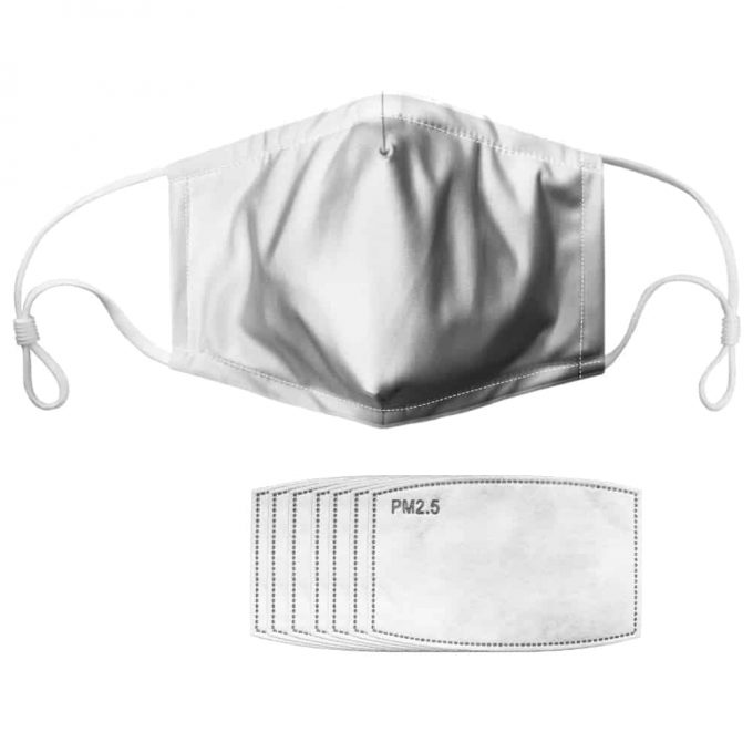 N95 White Mask – Face Mask+ Filters PM2.5