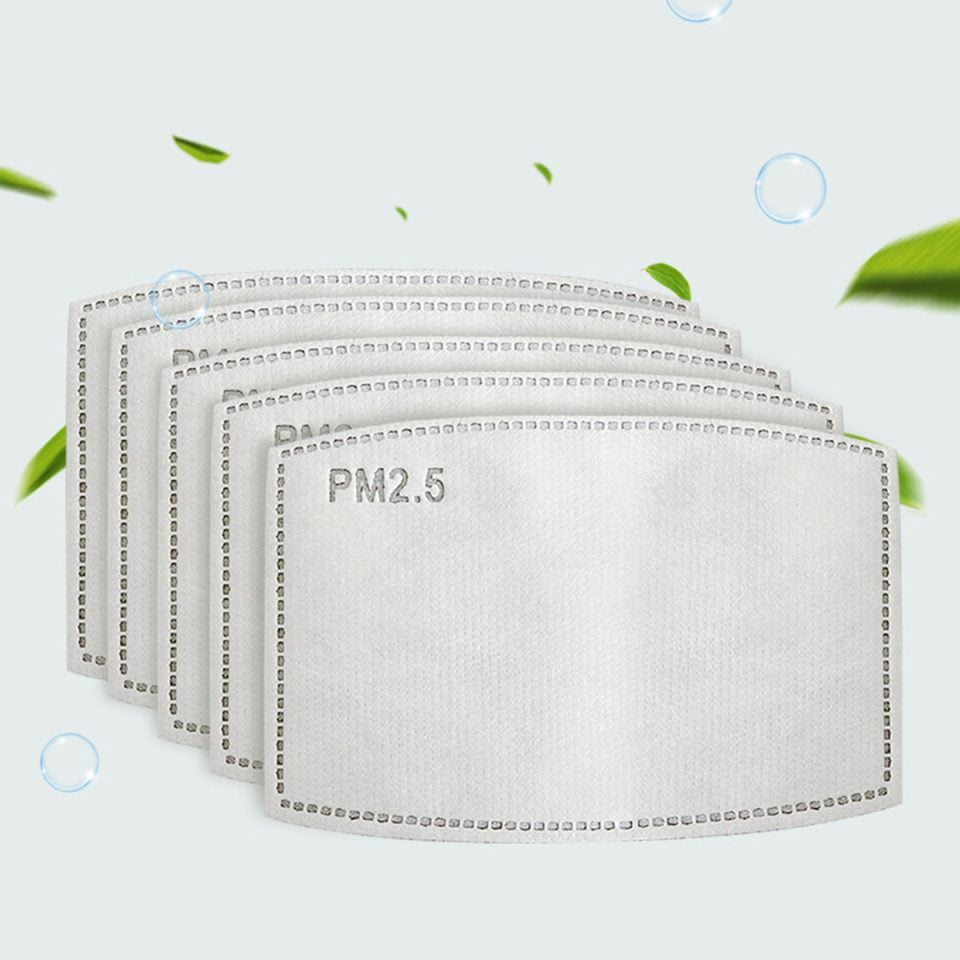7 PCS PM2.5 Filters for Face Masks