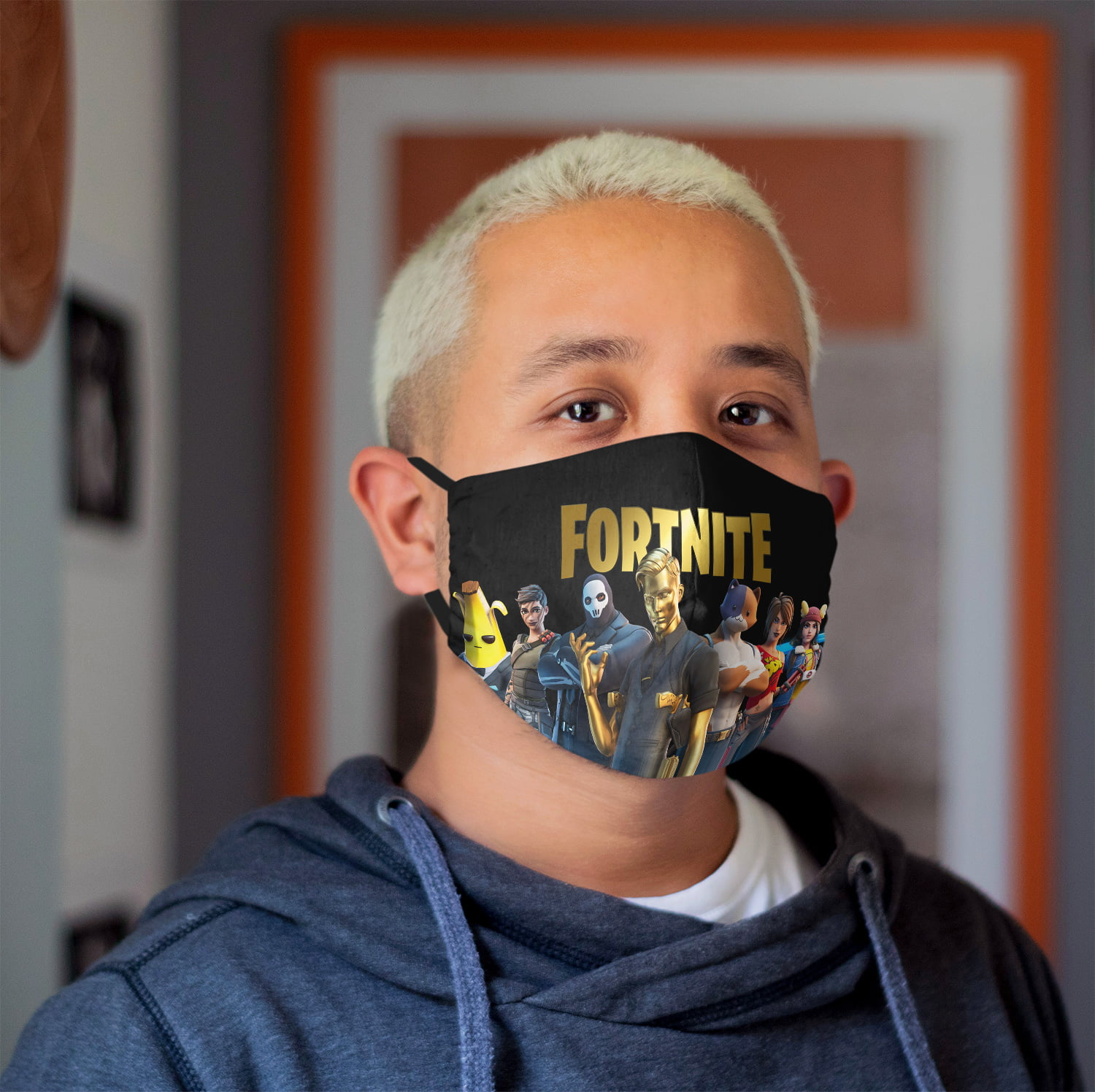 Fortnite Kids Face Mask + Filters PM2.5