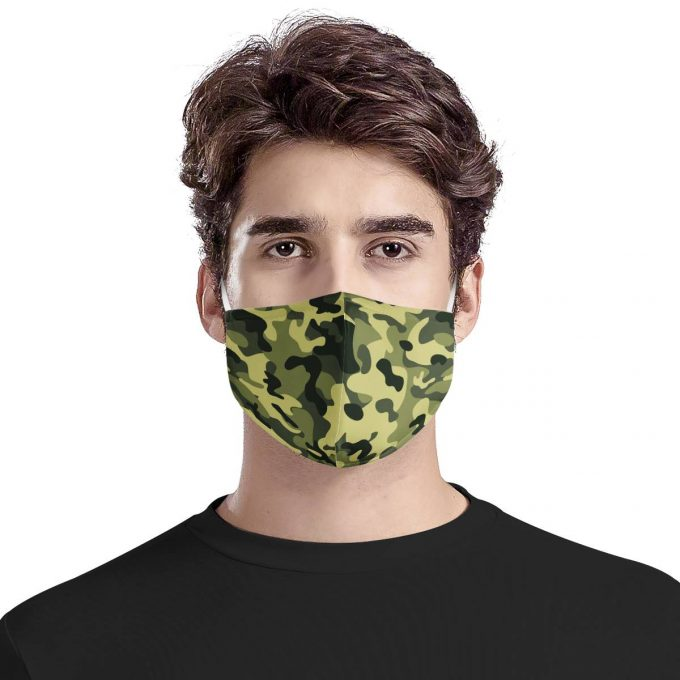Camouflage Pattern Face Mask + Filters PM2.5