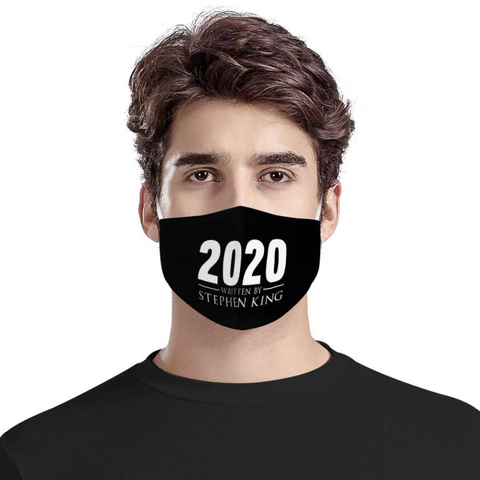 2020 Written by Stephen King Face Mask + Filters PM2.5