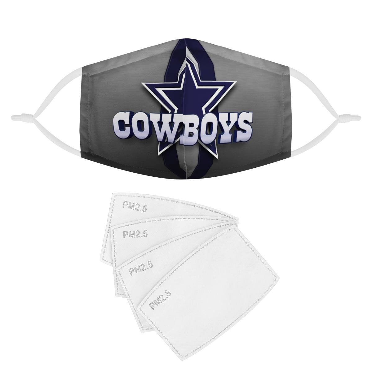 Dallas Cowboys Face Mask + Filters PM2.5