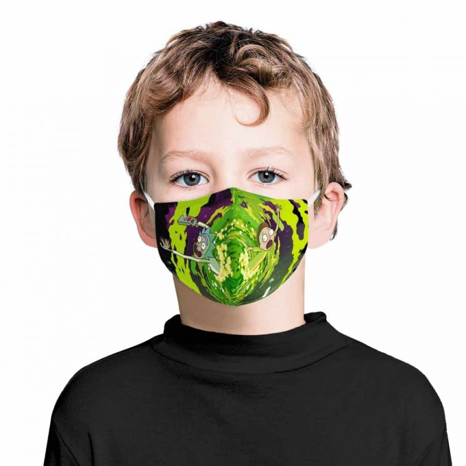 Rick and Morty Kids Face Mask + Filters PM2.5