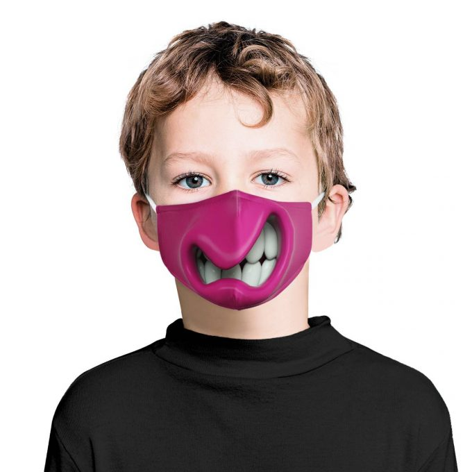 Monster Mouth Kids Face Mask + Filters PM2.5