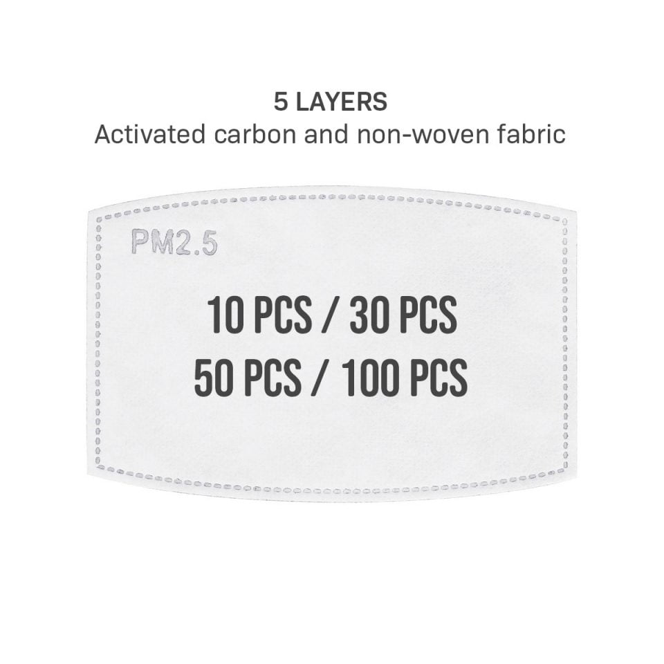 PM2.5 Filters for Face Masks