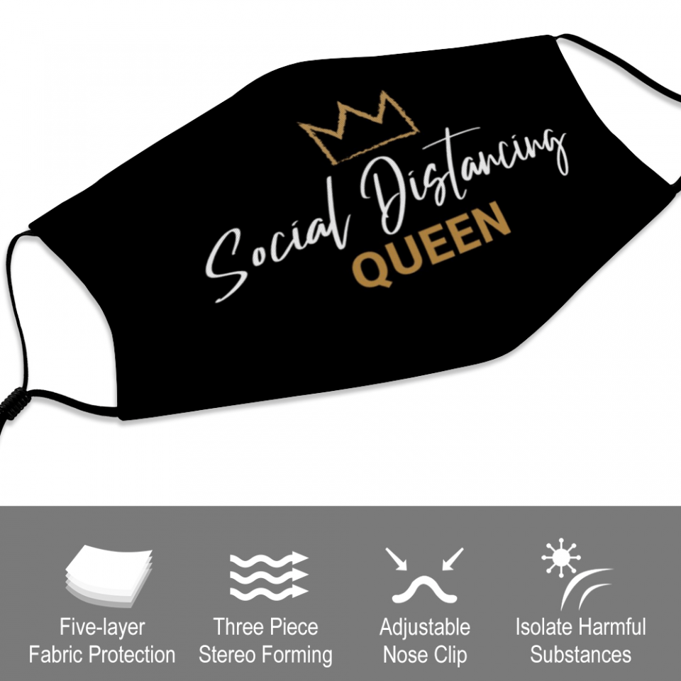 Social Distancing Queen Mask + Filters PM2.5