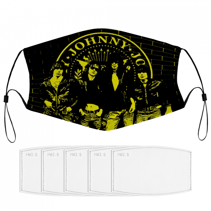 Ramones Face Mask + Filters PM2.5