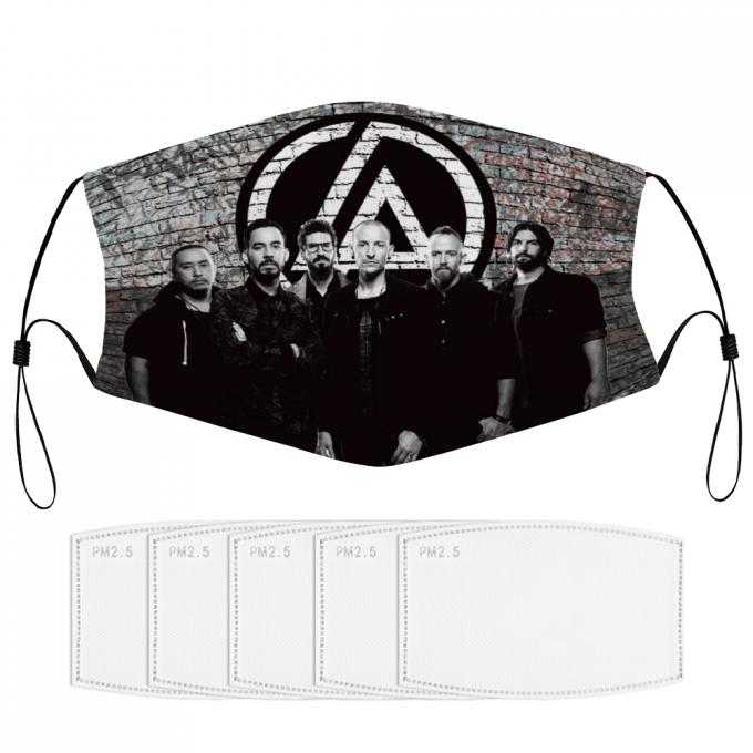 Linkin Park Face Mask + Filters PM2.5