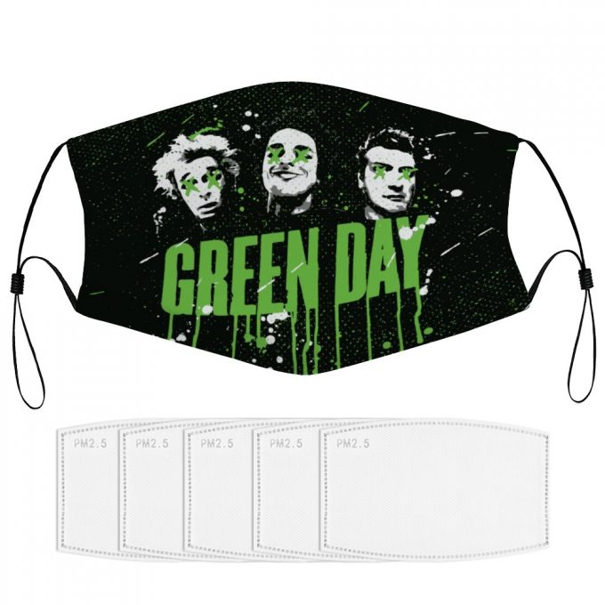 Green Day Face Mask + Filters PM2.5
