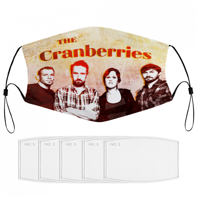 The Cranberries Face Mask + Filters PM2.5