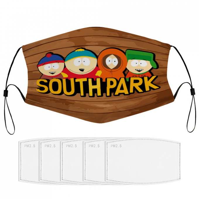 South Park Face Mask + Filters PM2.5