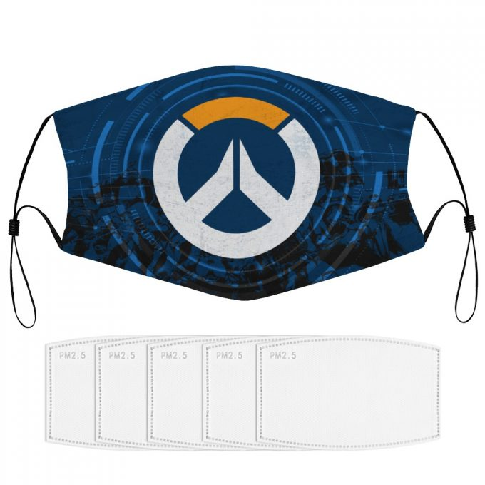 Overwatch Face Mask + Filters PM2.5