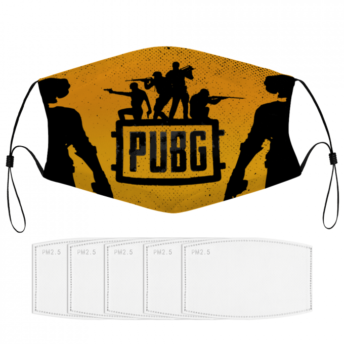 Player Unknown Battlegrounds Face Mask + Filters PM2.5