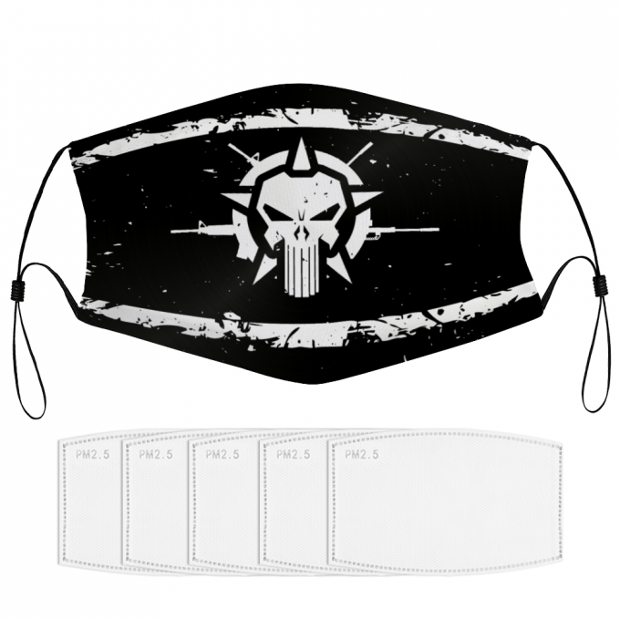 The Punisher Face Mask + Filters PM2.5