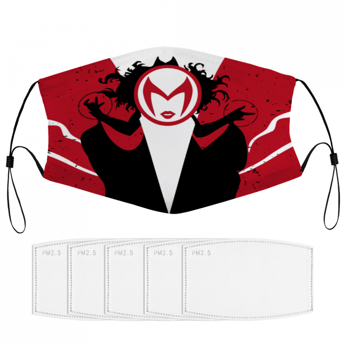 Scarlet Witch Face Mask + Filters PM2.5