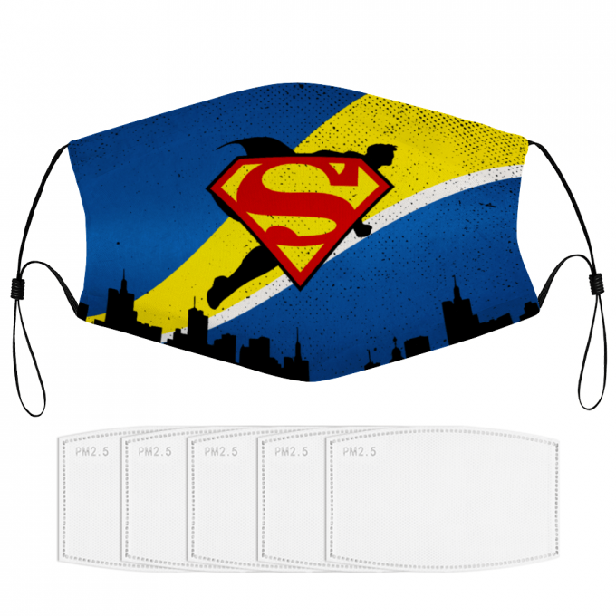Superman Face Mask + Filters PM2.5
