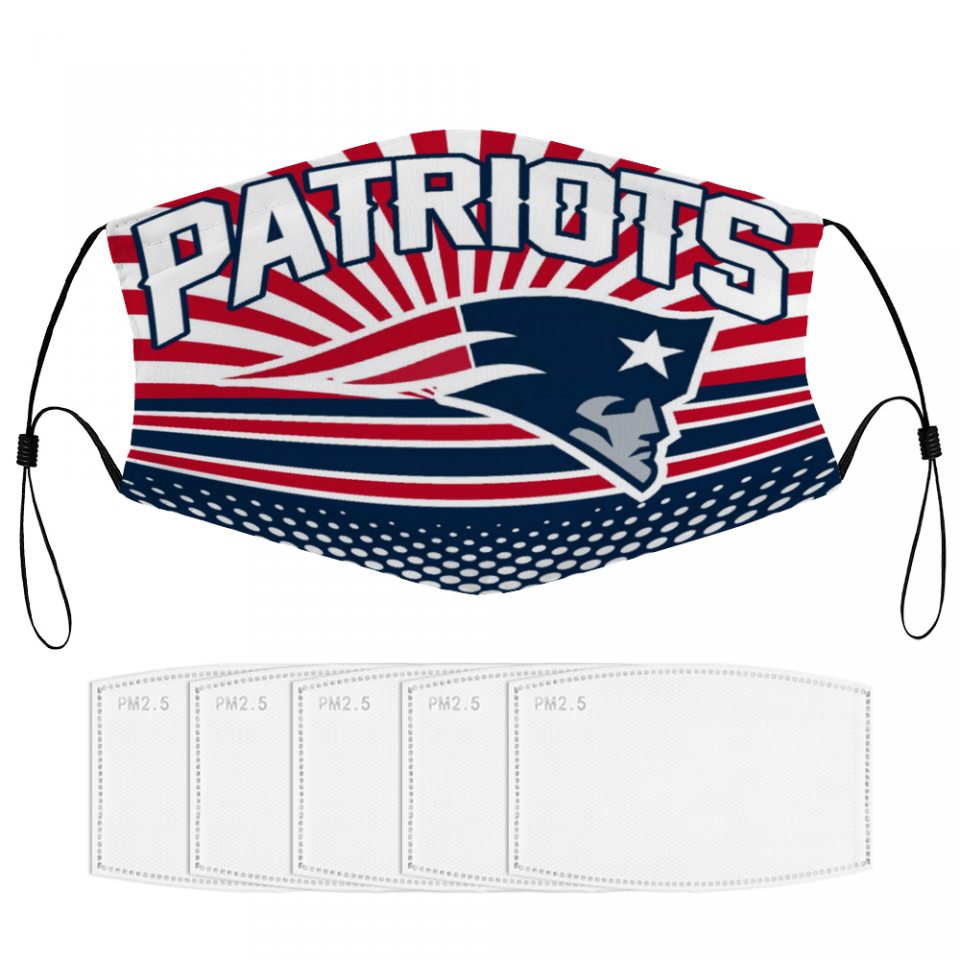 New England Patriots Face Mask + Filters PM2.5