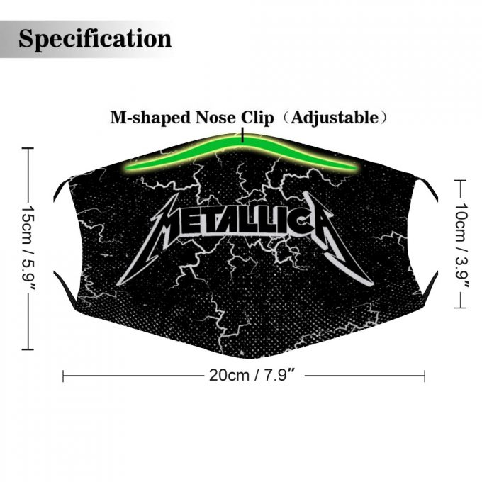 Metallica Face Mask + Filters PM2.5