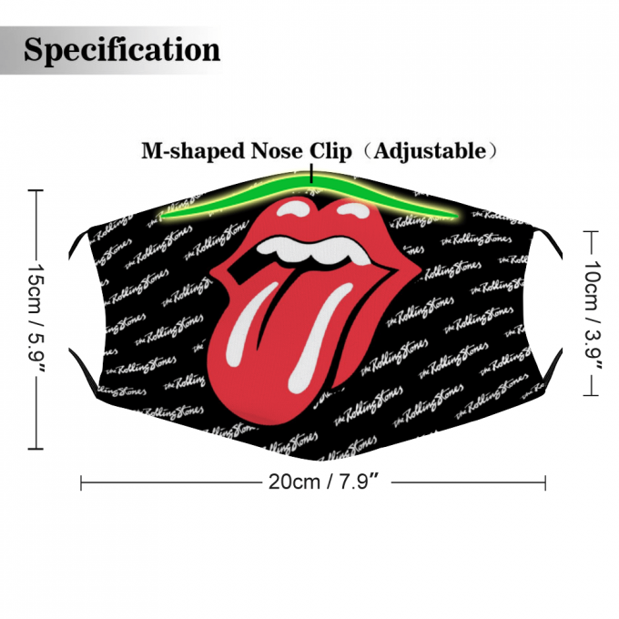 Rolling Stones Face Mask + Filters PM2.5