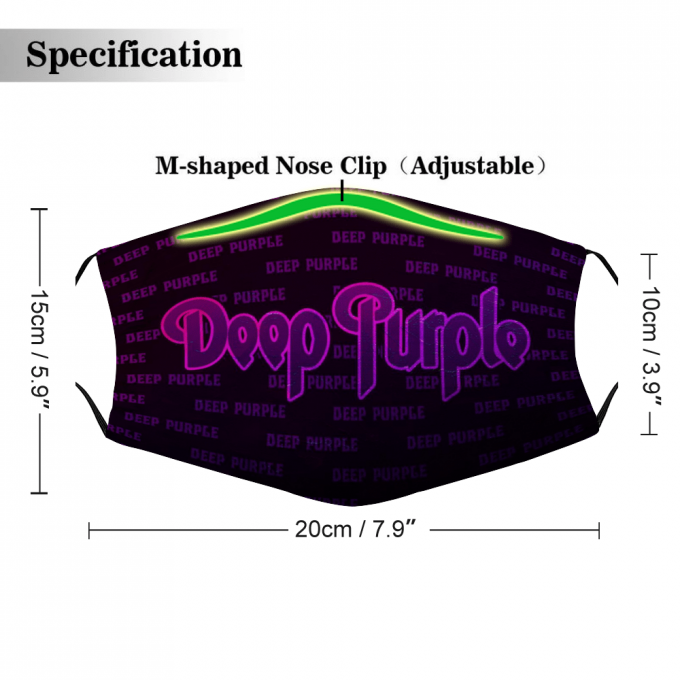 Deep Purple Face Mask + Filters PM2.5