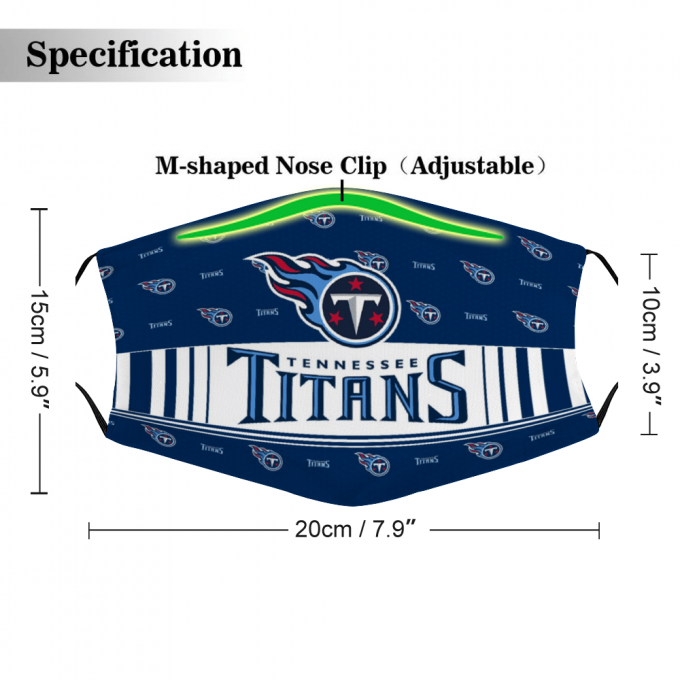 Tennessee Titans Face Mask + Filters PM2.5