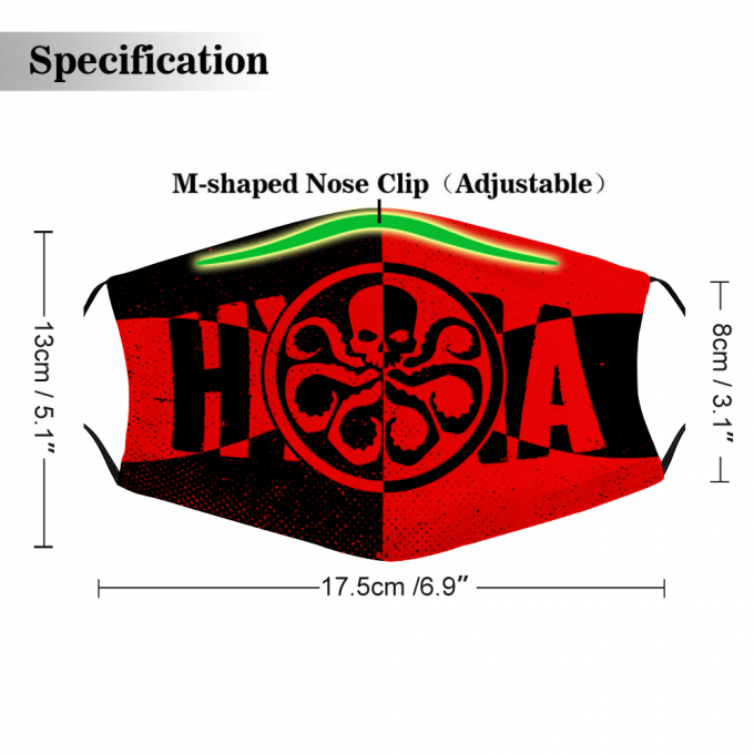 Hydra Face Mask + Filters PM2.5