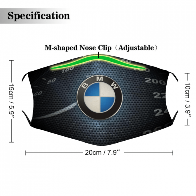 BMW Face Mask + Filters PM2.5