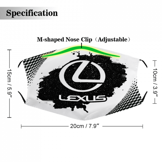 Lexus Face Mask + Filters PM2.5