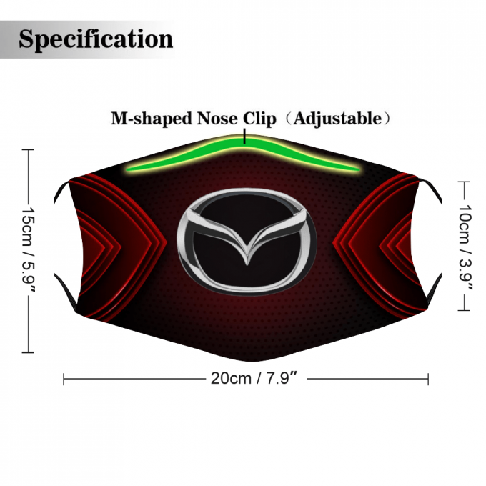 Mazda Face Mask + Filters PM2.5