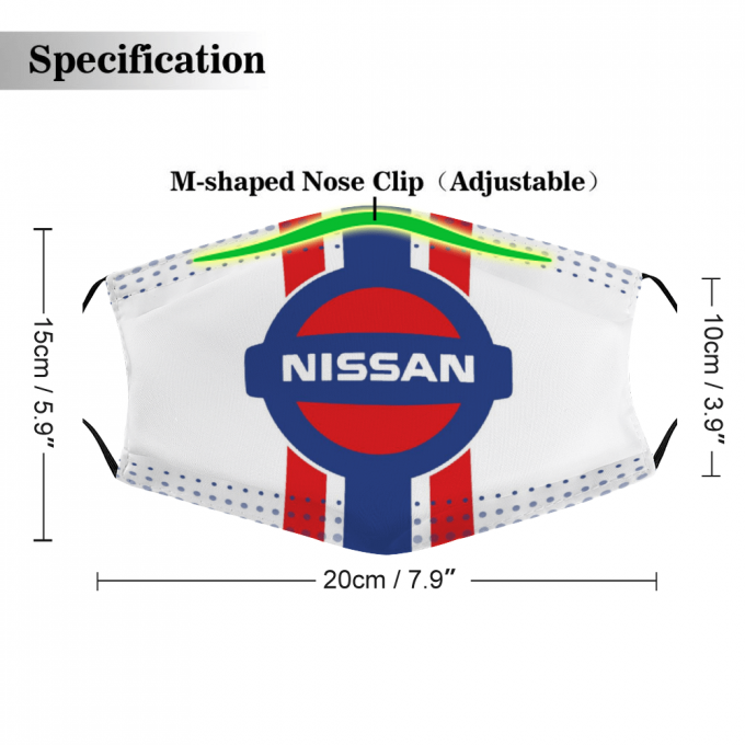 Nissan Face Mask + Filters PM2.5