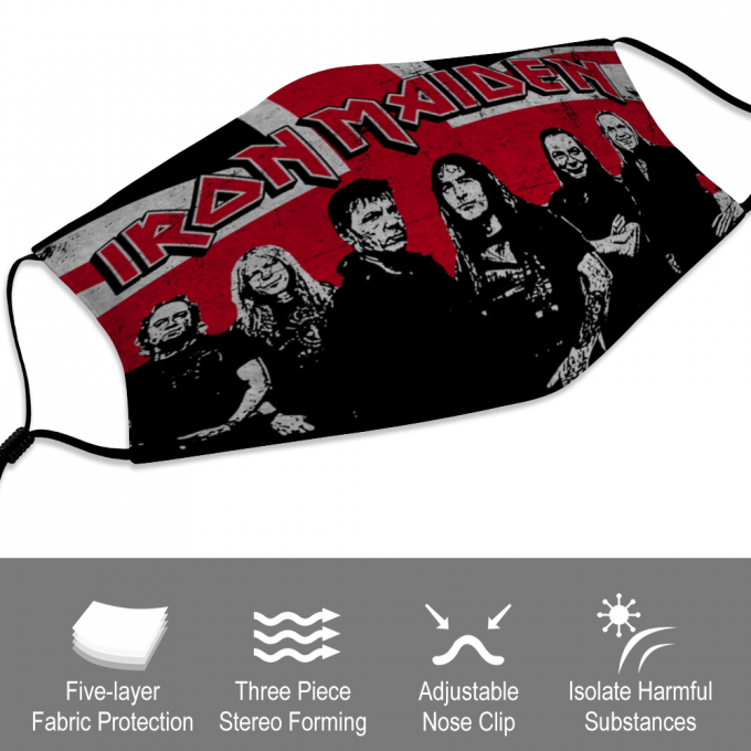 Iron Maiden Face Mask + Filters PM2.5