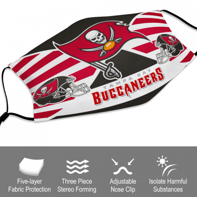 Tampa Bay Buccaneers Face Mask + Filters PM2.5