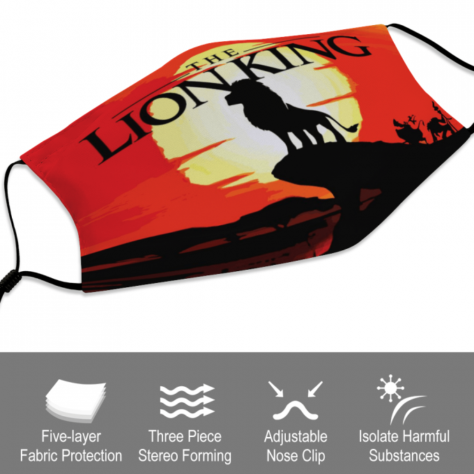 Lion King Face Mask + Filters PM2.5