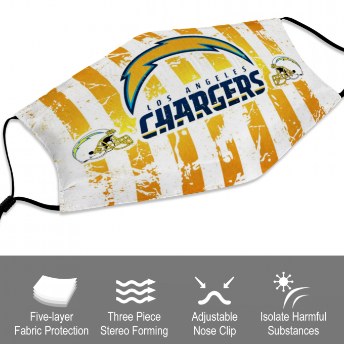 Los Angeles Chargers Face Mask + Filters PM2.5
