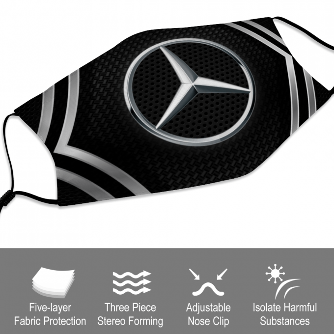 Mercedes Face Mask + Filters PM2.5