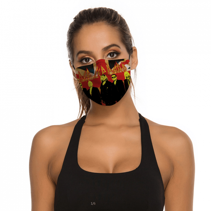 Def Leppard Face Mask + Filters PM2.5