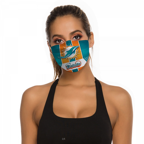 Miami Dolphins Face Mask + Filters PM2.5