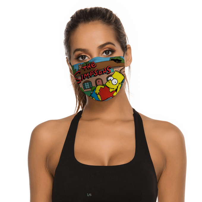 Los Simpson Face Mask + Filters PM2.5