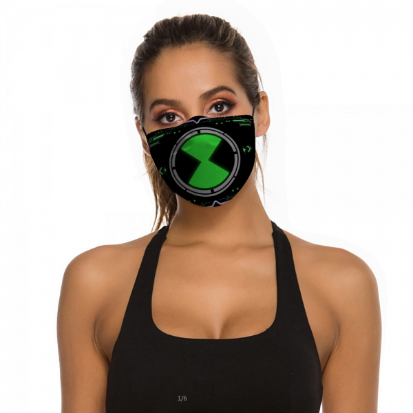Ben10 Face Mask + Filters PM2.5