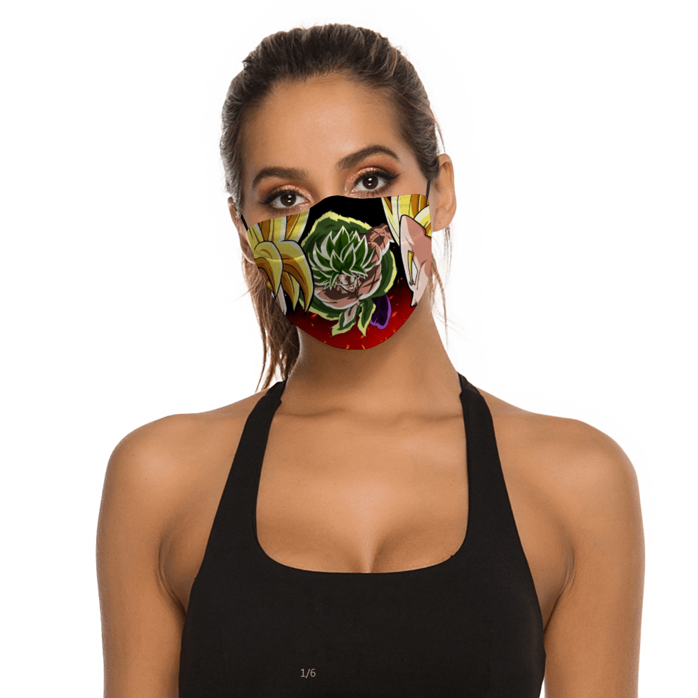 Dragon Ball Z Face Mask + Filters PM2.5