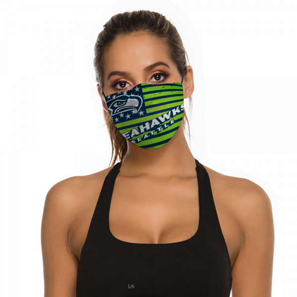 Seahawks Seatle Face Mask + Filters PM2.5
