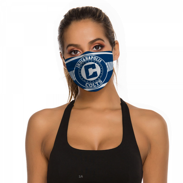 Indianapolis Colts Face Mask + Filters PM2.5
