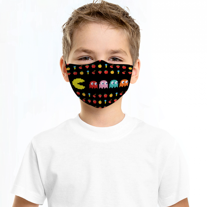 Pacman Face Mask + Filters PM2.5