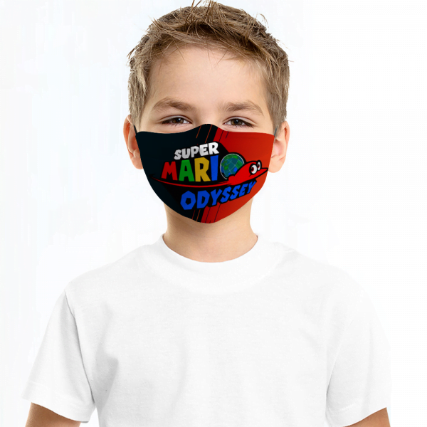 Super Mario Odyssey Face Mask + Filters PM2.5