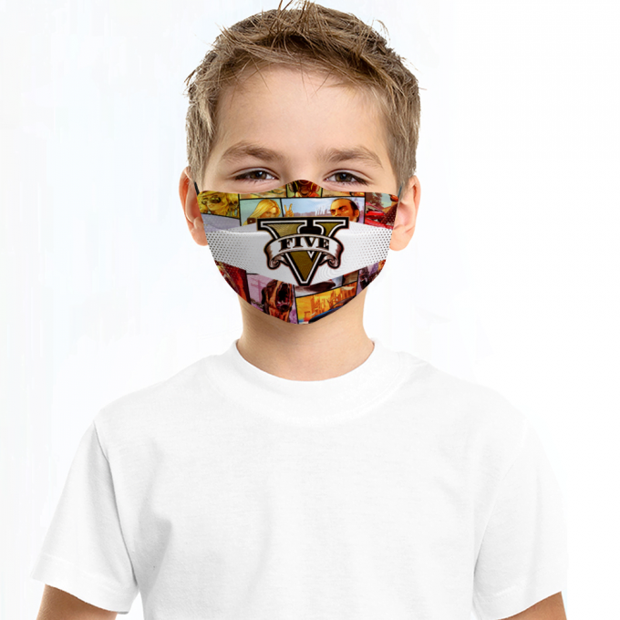Grand Theft Auto Face Mask + Filters PM2.5