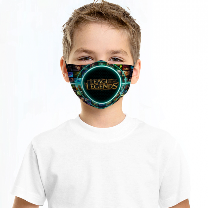 League of Legends Face Mask + Filters PM2.5